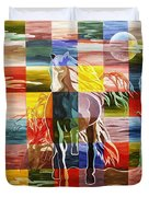 Galloping In The Night Duvet Cover