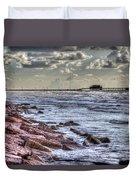 Galveston's Piers Duvet Cover