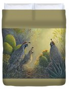 Gambel's Quail - Early Light Duvet Cover