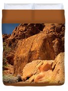 Gambels Quail In Profile Valley Of Fire Duvet Cover