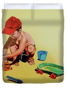 Game At The Beach - Juego En La Playa Duvet Cover