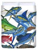 Gamefish Collage Duvet Cover