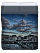 Stockholm In Dark Duvet Cover