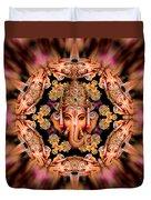 Ganesh Sphere Mandala Duvet Cover
