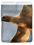 Gannet In Flight 2 Duvet Cover