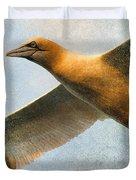 Gannet In Flight Duvet Cover