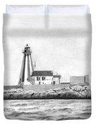 Gannet Rock Lighthouse Duvet Cover
