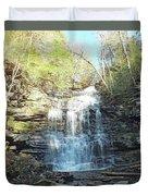 Ganoga Falls 3 - Ricketts Glen Duvet Cover