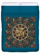Ganpati Mandala  Duvet Cover