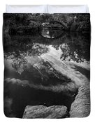 Gapstow Bridge In Central Park - Bw Duvet Cover