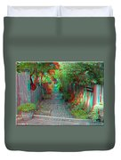 Garden Alley - Use Red-cyan 3d Glasses Duvet Cover