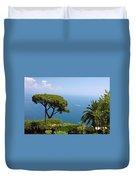 Garden And Bay Of Naples Duvet Cover