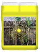 Yellow Sunflower Garden Art Duvet Cover
