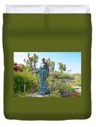 Garden At Carmel Mission-california Duvet Cover