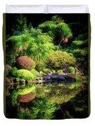 Garden At Shores Acres Duvet Cover