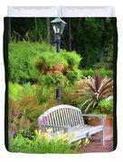 Garden Benches 5 Duvet Cover