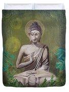 Garden Buddha Duvet Cover