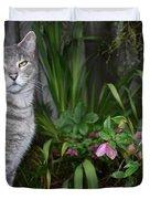 Garden Cat Duvet Cover