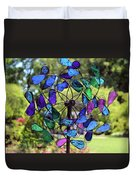 Garden Colored Fan Duvet Cover