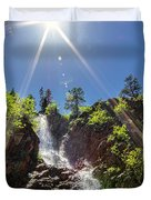 Garden Creek Falls Duvet Cover