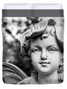 Garden Fairy - Bw Duvet Cover