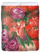 Garden Flowers In Vase 1 Duvet Cover