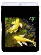 Garden Goldenfish Duvet Cover