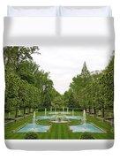 Italian Fountains Of The Garden Duvet Cover