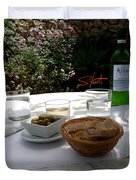 Garden Lunch Mallorca Duvet Cover