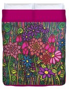 Garden Of Happiness  Duvet Cover