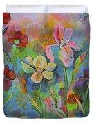 Garden Of Intention - Triptych Center Panel Duvet Cover