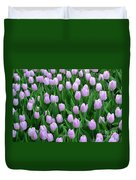 Garden Of Pink Tulips Duvet Cover