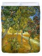 Garden Of Saint Paul's Hospital Duvet Cover by Vincent van Gogh