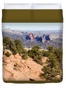 Garden Of The Gods And Springs West Side Duvet Cover