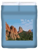 Garden Of The Gods Colorado De  Duvet Cover