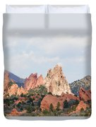 Garden Of The Gods From A Distance Duvet Cover