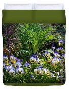 Garden Pansies Duvet Cover