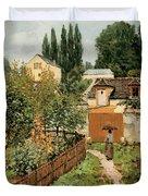 Garden Path In Louveciennes Duvet Cover