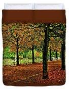 Garden Path, Schloss Biebrich Duvet Cover