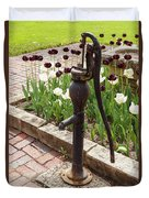 Garden Pump From The Old Days Duvet Cover