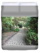 Garden Sidewalk Duvet Cover