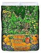 Garden Sketches 1 Duvet Cover
