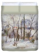 Garden Under Snow Duvet Cover