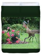 Garden Visitors Duvet Cover