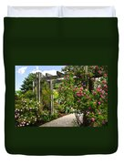 Garden With Roses Duvet Cover