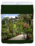 Garden With Roses Duvet Cover by Elena Elisseeva