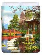 Gardens Of Fuji Duvet Cover