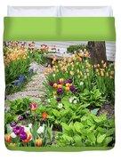Gardens Of Tulips Duvet Cover