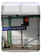 Gare D'austerlitz In Paris, France Duvet Cover
