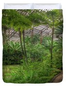 Garfield Park Conservatory Pond And Path Chicago Duvet Cover